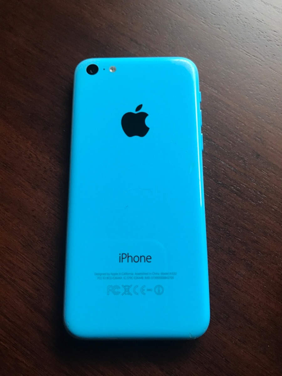 at t iphone 5c at amp t iphone 5c blue in letgo 10171