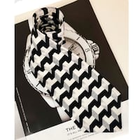 Tie Black White Grey Men's Necktie  Markham, L3P