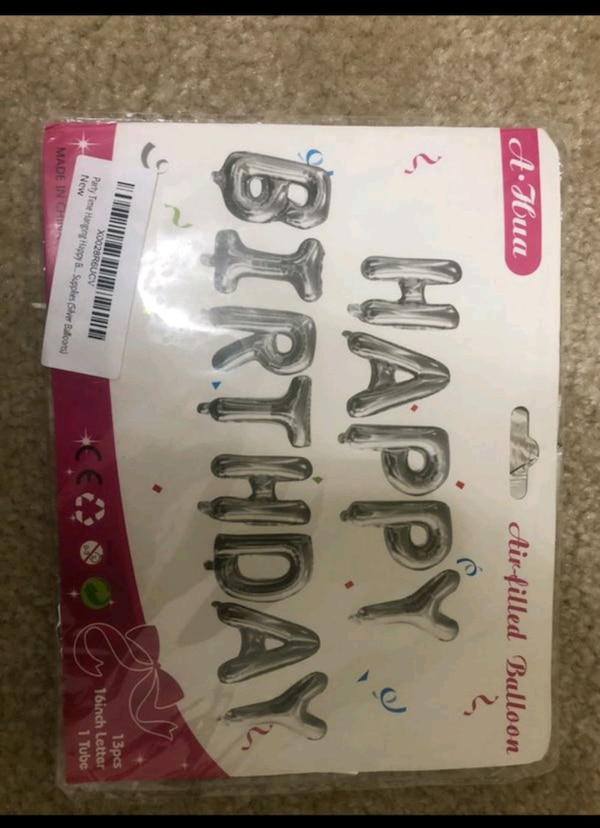 Party Time Hanging Happy Birthday Balloon Banner for Birthday Party De 85e61c13-9ed4-4886-97d4-4894f8bd5e33