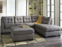 Moving sale! Microfiber charcoaled colored sectional sofa with R-side facing chase Charlotte, 28205