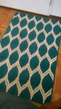 blue, white, and green area rug Henderson, 42420