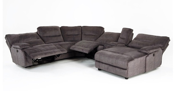 XXL Reclining Chaise 6-piece sectional couch 2