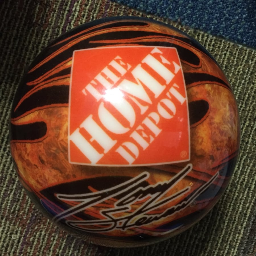 Brand new never drilled tony stewart bowling ball