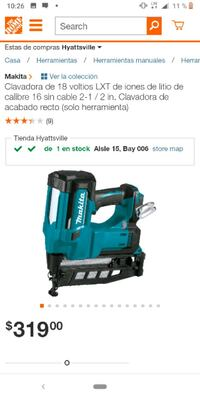 Finish nailer 16 GA tool only East Riverdale, 20737