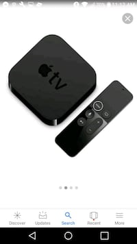 black Apple TV box with remote Pascagoula
