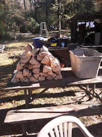 Fire wood and cut pine knot