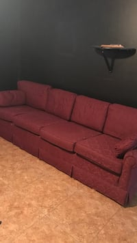 red fabric 3-seat sofa Palm Coast, 32137