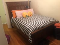 Queen size pillow-top bed set complete with mattress, box spring, headboard and frame.  Matching 5 drawer dresser.  Washington, 20020