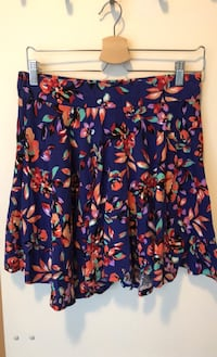 Large floral mini skirt