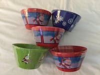 """CHRISTMAS PLASTIC BOWLS SET OF 11 """"NEW"""" - PICK UP ONLY COVINA  Covina, 91724"""
