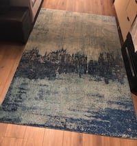 "Abstract blue rug (5' x 7' 5"") Washington, 20001"