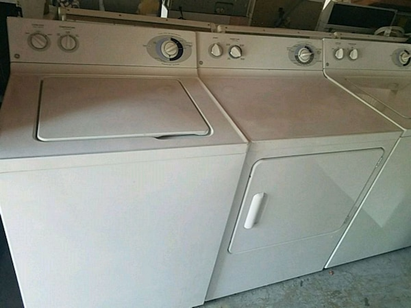 Washer and electric dryer ge