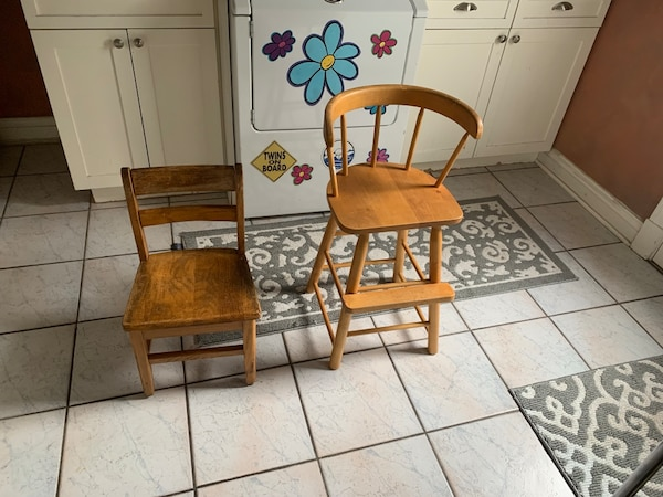 2 Solid Wood Children's Chairs. Great for all ages and size!