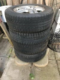 Honda winter tires. Michelin 205/70 R 15 Studless. With rims Grimsby