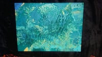 Blue and green abstract painting on canvas Granite City, 62040