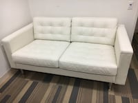 Gently Used White Leather Sofa CAPITOLHEIGHTS
