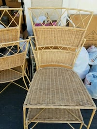 6 metal tan chairs Calabasas, 91301