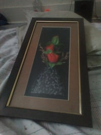 brown wooden framed painting of flowers Regina, S4P 1X1