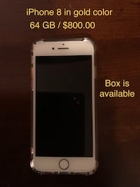 iPhone 8 / 64 GB / $800.00 or $785.00 Toronto, M6A