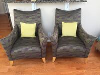two red and green fabric sofa chairs Hanover, 21076