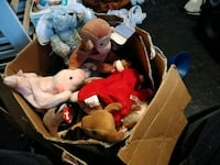 assorted animal plush toys in box Phenix City, 36869