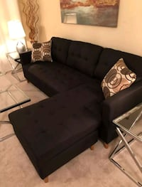 Brand New Black Linen Sectional Sofa Couch  Silver Spring, 20910