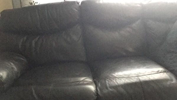 Seats En Sofas Reclame.Used Black Leather Couch Reclam Good Condition Works Very Good 3