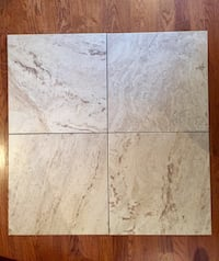 Porcelain travertine style 18 x 18 tile. 200 sq ft   St Albert, T8N