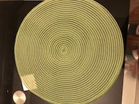 round brown wicker table top