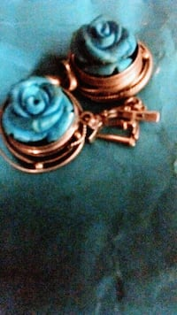 Blue Rose earrings, .925 with real diamonds Tucson, 85713