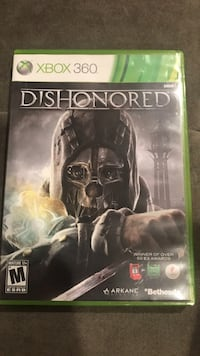 Dishonored Xbox 360 game case Alexandria, 22310