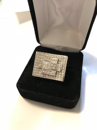 10k white gold men's ring with diamonds