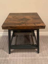 Industrial Style End Table Brand new in box, CLEARANCE Port Coquitlam