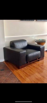Leather brown chair Katy, 77494