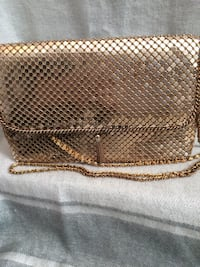 gold mesh evening bag