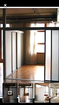 Espresso Frosted Glass Sliding Closet Doors / Room Divider Lorton, 22079
