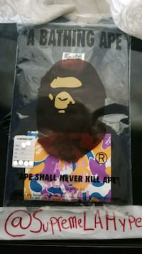 A Bathing Ape labeled pack