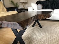 Rectangular brown wooden coffee table Welland, L3C 6E8