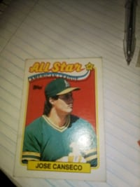 All Star 1988 Jose canseco baseball card