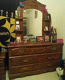 Antique Dresser with matching end stands.