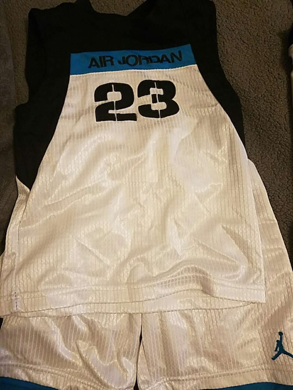 044b07cbc Used white and black air jordan 23 jersey for sale in Teaneck - letgo