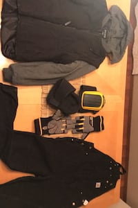 Work Clothes, knee pads and winter gloves.