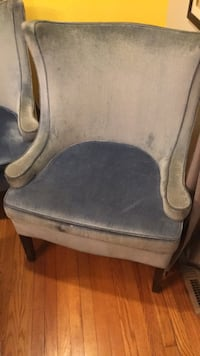 gray and black leather padded rolling chair Morningside, 20746