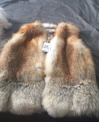 New fox vest from Michael Kors (size small)