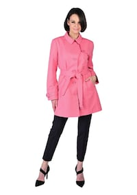Trench Coat by Guillaume Designs -Pink Ice(New) -S(Reg.Price $104) Pickering
