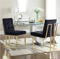New Modern Golden Legs Dining Chair.