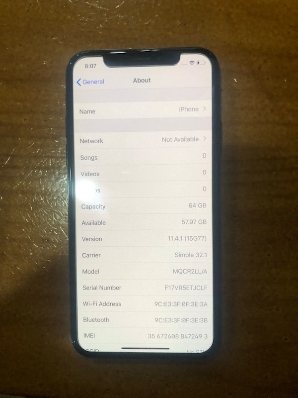 iPhone X 64gb bad imei unlocked-will not work in the us