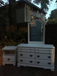 Shabby chic dresser with mirror and nightstand  Wilmington, 28401