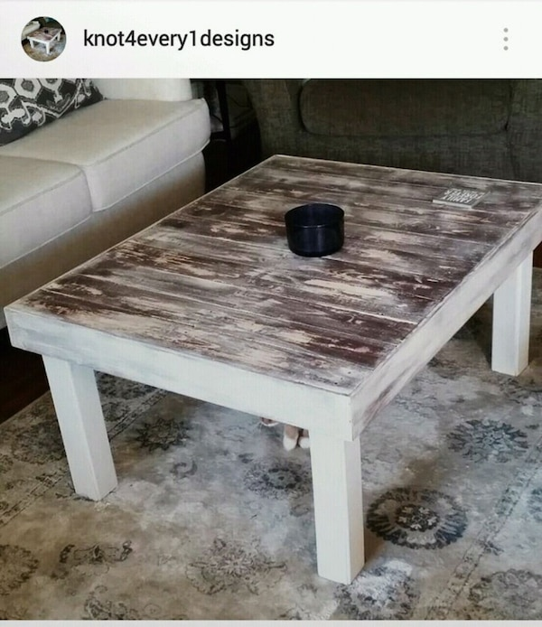 Rustic modern Coffee table handcrafted