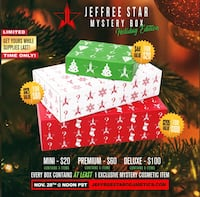 Jeffree Star Limited Edition Deluxe Holiday Mystery Box Germantown